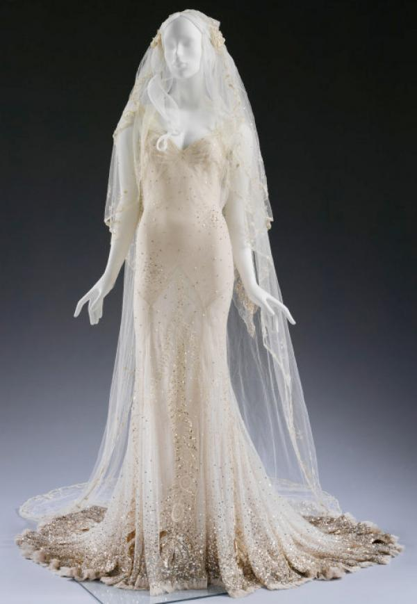Bespoke John Galliano dress worn by Kate Moss at her wedding in 2011 © Victoria and Albert Museum, London