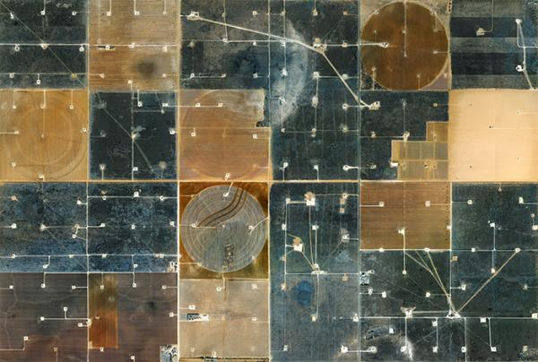 'Coronado Feeders, Dalhart, Texas', 2013, Dalhart, Texas, 102 x 122 cm, Archival Pigment Print, series: Beef & Oil, Mishka Henner © Prix Pictet Ltd 2013/14