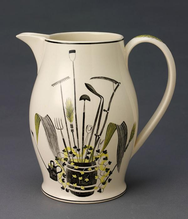 Jug, Eric Ravilious (designer), Wedgwood (manufacturers), about 1939. Museum no. CIRC.470-1948. © Victoria and Albert Museum