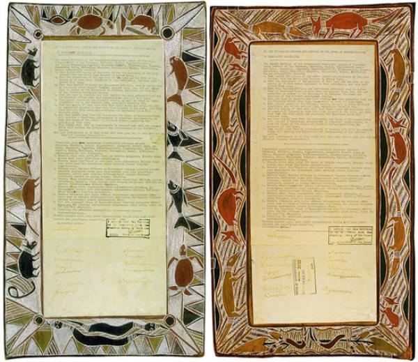 Yirrkala Bark Petition sent to House of Representatives, Canberra, January 1963