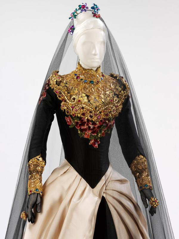 Wig for a Christian Lacroix Haut Couture piece from 1993-4 (T.241:1-16-1993). © Victoria and Albert Museum, London.