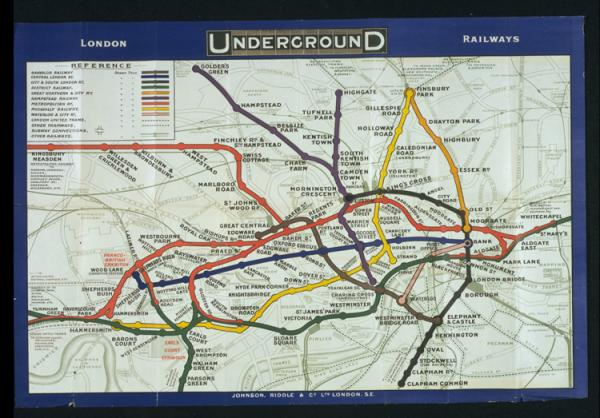 Poster map, Johnson, Riddle and Co. Ltd, 1909. Museum  no. E.721-1993