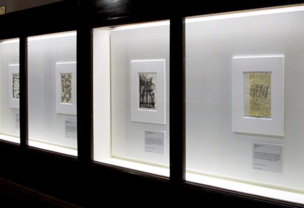 "Installation shot of ""Forty Artists - Forty Drawings"""