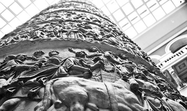 Plaster cast of Trajan's Column, unknown maker, 113 (made) about 1864 (cast). Museum no. REPRO.1864-128. © Victoria and Albert Museum, London