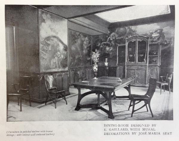 Dining Room designed by E. Galliard, in Sigfried Bing's L'Art Nouveau Pavilion