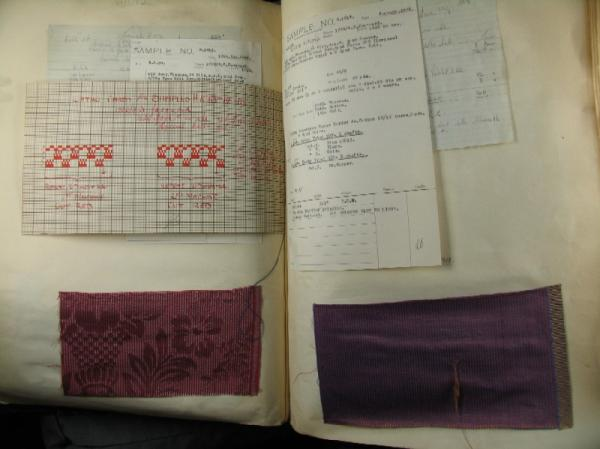 Textile samples, 1927-1928, from a Halifax mill sample book