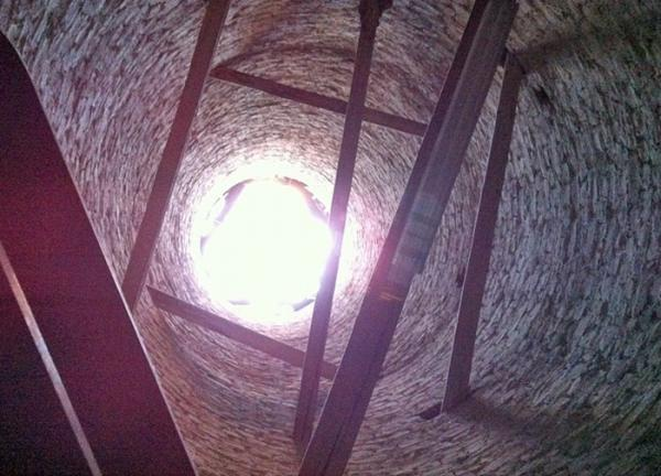 View inside Trajan's column