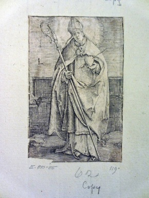 E.810-1885, engraving showing St. Gerard Sagredo,  copy after Lucas Hugensz van Leyden, © Victoria and Albert Museum, London