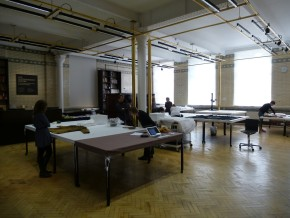 Object Lives scholars in the Clothworkers' Centre study room © Victoria and Albert Museum, London