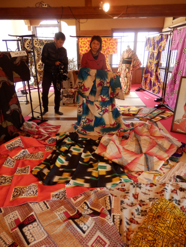 Meisen kimono at the Isezaki Meiji Museum © Victoria and Albert Museum
