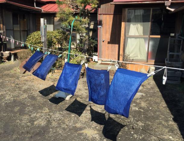 Handkerchiefs drying in the  sun