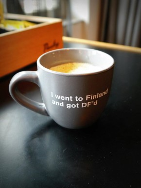 Coffee Mug at Aalto University's Design Factory. Image © Roxanne Ravenhill, 2015