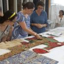 Choosing embroidered tops at the Clothworkers' Centre