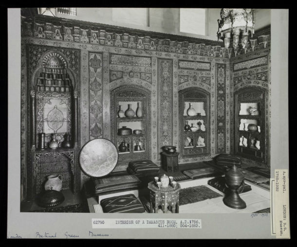 The Damascus Room as it looked around 1932, when it was installed in the Bethnal Green Museum (V&A: 1785-1932) © Victoria and Albert Museum, London