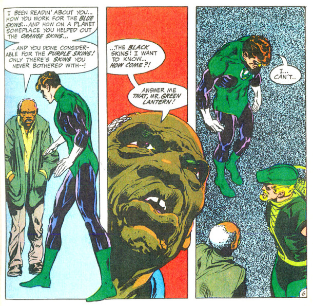 Green Lantern learns a difficult lesson. Green Lantern (co-starring Green Arrow) #76.'No Evil shall escape my sight!', April 1970. © DC Comics.