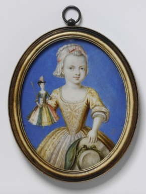 Portrait of Katherine Whitmore by Bernard Lens, 1724. P.14-1971(c) Victoria and Albert Museum, London