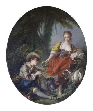 'Pastorale', oil painting, François Boucher, 1763. VA 374-1901