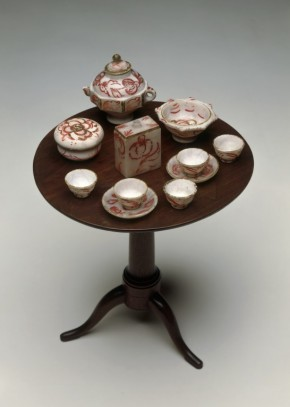 Alabaster tea service from W.42-1922. (C) Victoria and Albert Museum, London