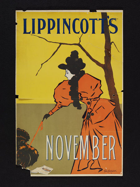 Poster for Lippincott's, Will Carqueville, 1895. Museum Number E.1358-2004. © Victoria & Albert Museum.