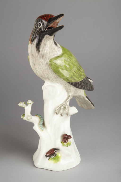 Meissen woodpecker, Johann Joachim Kändler, Meissen porcelain factory  Germany. ca. 1740-1745. V&A C.1-1984