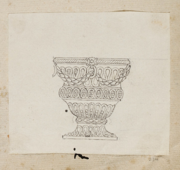 Design for a neo-classical egg cup possibly by Jean Ducrollay, ca.1780. V&A E.897:234-1988