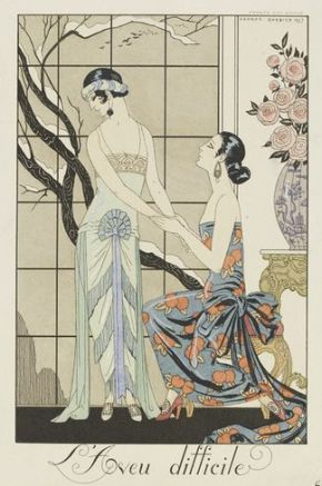 "George Barbier. ""L'Aveu difficile,"" 1923. E.619-1954"