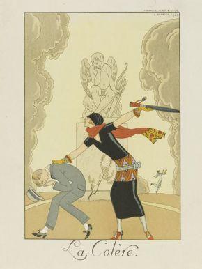 "George Barbier. ""La Colère"". 1924. E.646-1954"