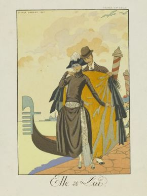 "George Barbier. ""Elle et Lui"". 1921. E.644-1954"