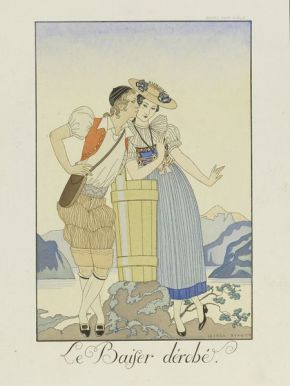 """George Barbier. """"Le Baiser dérobé"""". 1922-25. E.649-1954"""