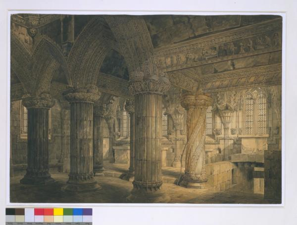 Roslin Chapel, the 'Prentice Pillar', George Shepherd, 1809, Museum no.3031-1876