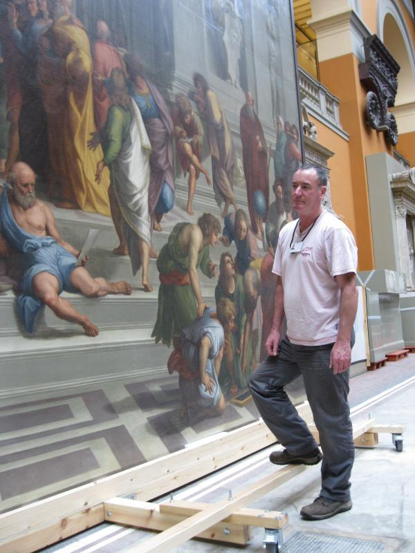Martin with the School of Athens