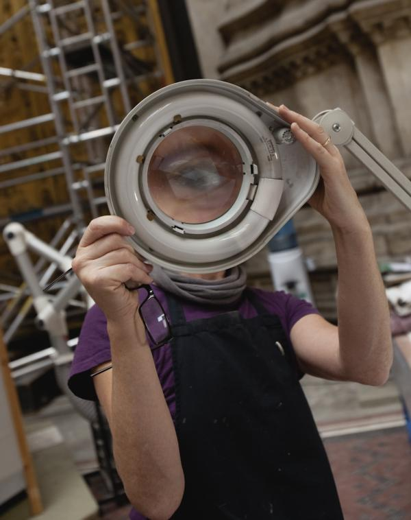 The trained eye of the sculpture conservator Sarah Healey