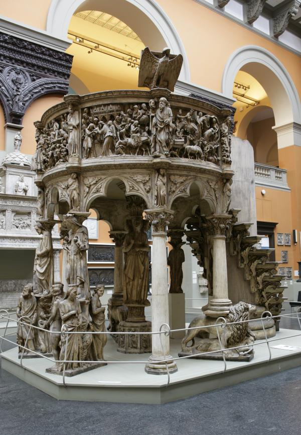 Plaster cast of the Pisa pulpit by Giovanni Pisano