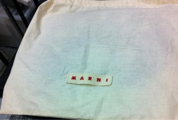 Marni dust bag, with 'MARNI' label
