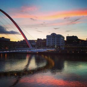 Sunset over the River Tyne, Newcastle © Kati Price