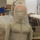 Katie Shillingford's veil designed by Stephen Jones