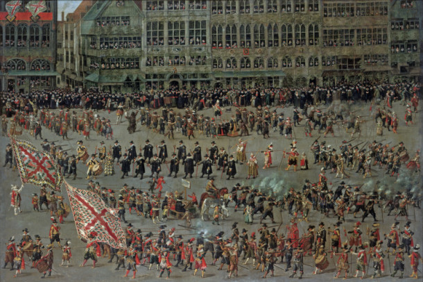 'The Ommeganck in Brussels on 31 May 1615: the Senior Guilds', Denys van Alsloot, 1615 V&A 169-1885 © Victoria and Albert Museum, London
