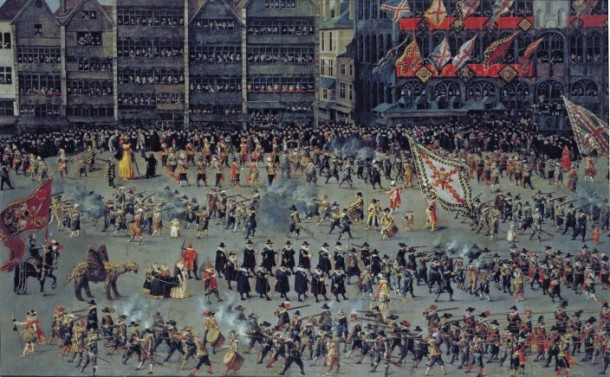 'The Ommeganck in Brussels on 31 May 1615:  the Senior Guilds', Denys van Alsloot, 1615 V&A 168-1885 © Victoria and Albert Museum, London