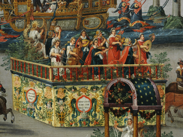 Musicians on the fourth float © Victoria and Albert Museum, London