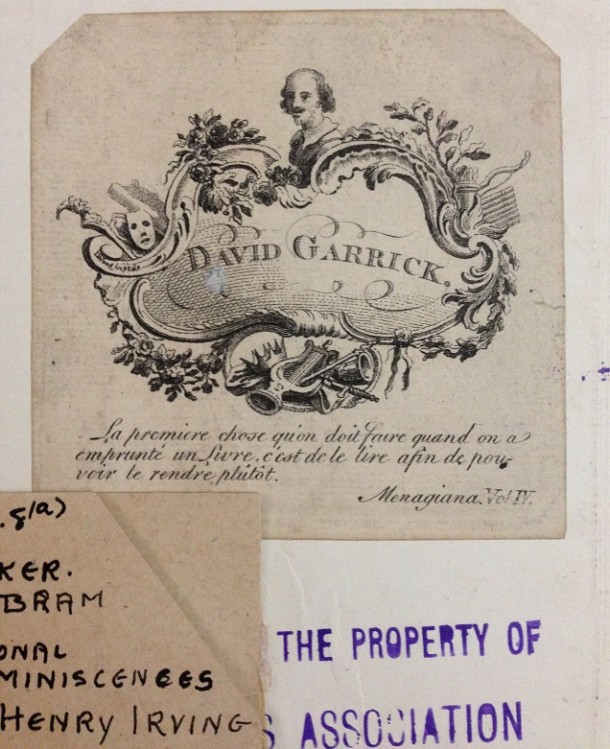 Garrick's Bookplate