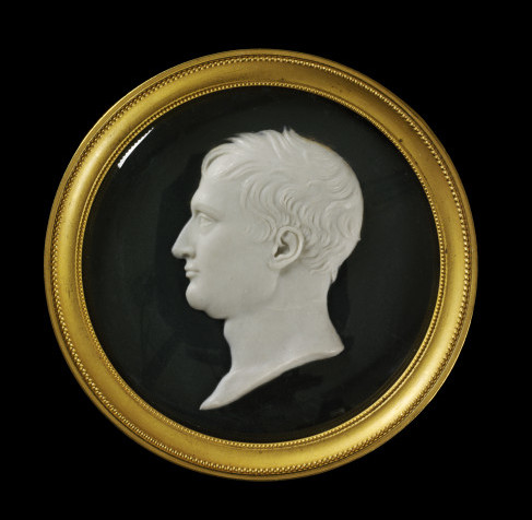 Relief portrait of Napoleon, wax on slate, Benedetto Pistrucci, France (Paris) or England (London), 1815. Bequeathed by Miss A.F. Long. V&A A.3-1940