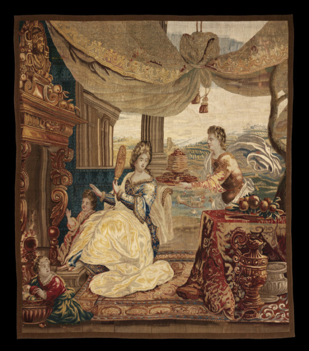 'Winter', tapestry woven in wool and silk, probably designed by Lodewijk van Schoor, Brussels, ca. 1690-1720 (T.165-1931) © Victoria and Albert Museum, London