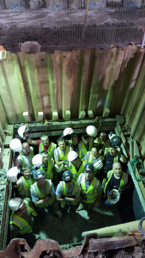 Toureen contractors 20 metres below street level