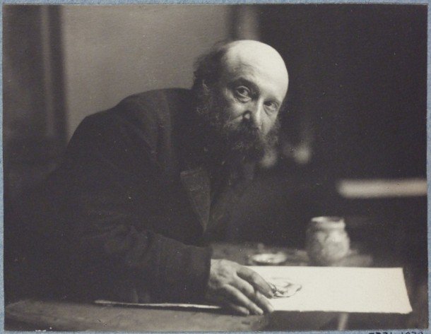 Portrait of Simeon Solomon, aged 56. Platinum print, Frederick Hollyer, 1896-97. V&A P.7731-1938