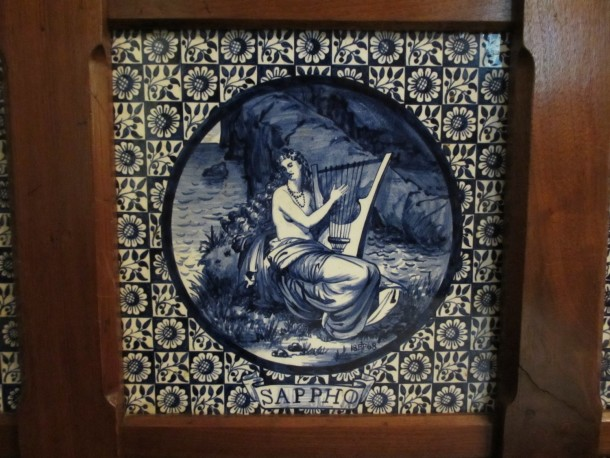 Sappho tile in the Poynter Room © Dawn Hoskin