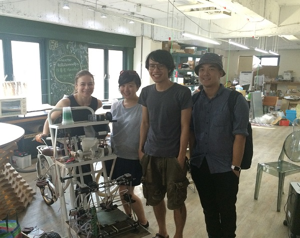 Monica Shen, Kai yu Kamm, Wayne Lin and Luisa Mengoni at MakerBar