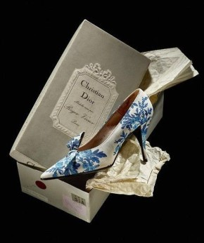 Toile de Jouy shoes by Roger Vivier for Christian Dior, 1956.