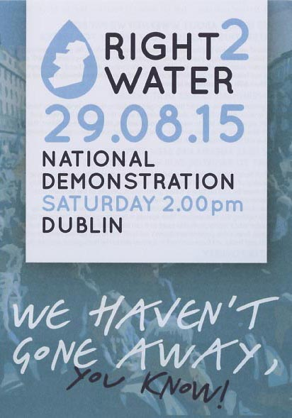 Right2Water flyer, 29 August 2015, (image courtesy of Right 2 Water)