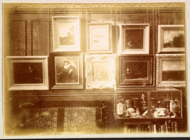 Image from an album of photographs of Ionides' house at 1 Holland Park. Museum no. PH.2-1980.