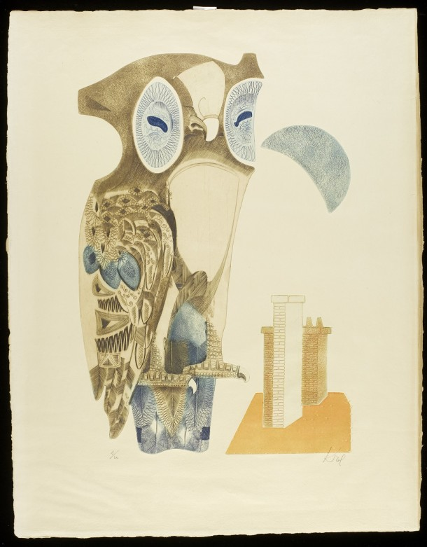 Colour etching and aquatint by Abram Krol, France, ca. 1958. Museum no. E.239-1994. ©Abram Krol/Victoria and Albert Museum.